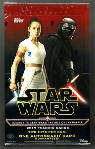 STAR WARS JOURNEY TO THE RISE OF SKYWALKER FACTORY SEALED HOBBY BOX