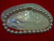 Collane e pendagli di bigiotteria perle bianche tondi