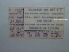 VAN HALEN 1986 SUN DAY CU BOULDER CO Ticket Stub DIO Loverboy B.T.O. Folsom RARE