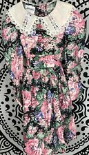 Vintage Bonnie Jean Victorian Floral Dress Size 8 Girls USA EUC Wedding Easter
