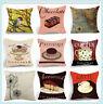 Square Home Decor Cushion Cover Cotton Linen Waist Throw Pillow Case Cover Sofa