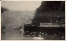 Straits of Magellan Magallenes & Ship c1915 Real Photo Postcard