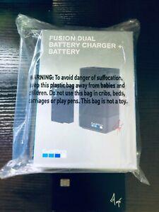 GoPro - Fusion Dual Battery Charger + Battery HERO8 HERO7 HERO6 & More