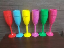 MOET CHANDON 6 x  COLOURED ACRYLIC CHAMPAGNE FLUTE  POOLSIDE