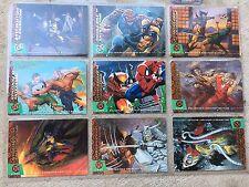 Fleer 1994 X-Men Ultra Wolverine's Greatest Battles Card Lot of 10 Spiderman