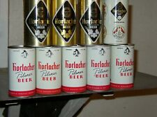 9 Dif Horlacher Beer Cans 1=Ft- Nm 85th Anni Can + Wikum Cardinal Nm
