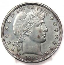 1892 Barber Half Dollar 50C - PCGS Uncirculated - Rare First Year BU MS UNC Coin