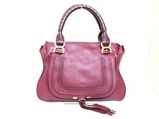 Authentic Chloe Bordeaux Medium Marcie Leather Handbag w/ Guarantee