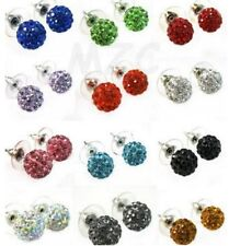 10mm 20pair/lot mixed disco ball bead women crystal shamballa earrings studs