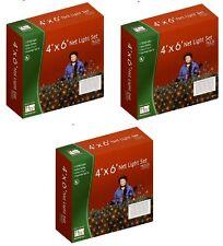 (3) Noma 48951-88 Holiday Wonderland 150 ct 4' x 6' MULTI Net Christmas Lights