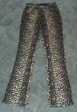 RVT Leopard Print Skinny Jeans Sz 5/6 Low Rise Cotton Spandex Brown Black
