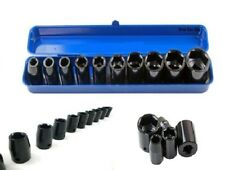 "Heavy Duty 10pc 1/2"" Drive Shallow Impact Socket Set Kit With Storage Case"