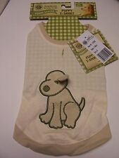 AKC Puppy Dog T-Shirt Cream Ivory with Applique Terry Cloth Dog Size Small NWT