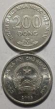 VIETNAM 200 Dong 2003 21mm steel UNC COIN 1pcs