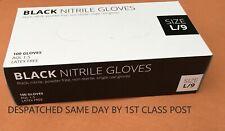 10(5pairs)Nitrile,Black,Powder Free,Medical,Surgical,Virus Protect Gloves-MEDIUM