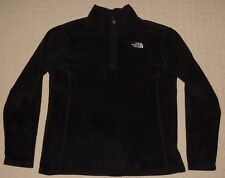 Girls The North Face Microvelour 1/4 Zip Fleece Pullover Youth XL 18 Black