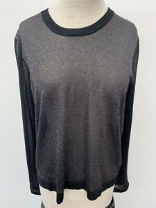 Marc By Marc Jacobs Black Lurex Jumper L