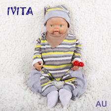18'' Full Body Silicone Bebe Reborn Baby Boy Doll Likelife Newborn Toys Gift US