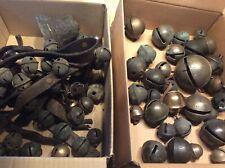Antique Brass Sleigh Bells -81 Bells - Cracks - Crafts - Repurpose