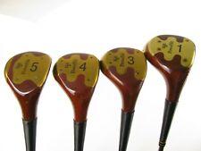 VINTAGE PowerBilt Citation H&B Genuine Persimmon wood set 1, 3, 4, 5, with Steel