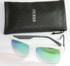 Genuine GUESS GU6838-5721X Men's Mirrored Sunglasses Mirrored WHITE Havana NEW!