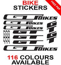 GT Bikes decals stickers sheet (cycling, mtb, bmx, road, bike) die-cut
