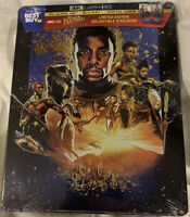 Black Panther 4K UHD Steelbook + Blu-ray + Digital Limited Edition Brand New