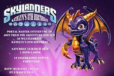 Printable Invite Personalised SKYLANDERS SPYRO DRAGON Invitation JPEG You Print