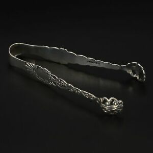 VTG Sterling Silver - ANTIQUE Art Nouveau Scroll Sugar Ice Cube Tongs - 12g