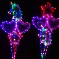 1xColorful Lights Luminous LED Balloon Heart And Star Bubble Wedding Party Decor