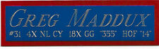 GREG MADDUX CHICAGO CUBS NAMEPLATE FOR YOUR AUTOGRAPHED Signed BASEBALL JERSEY
