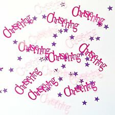 Foil Pink Bunting Christening Confetti
