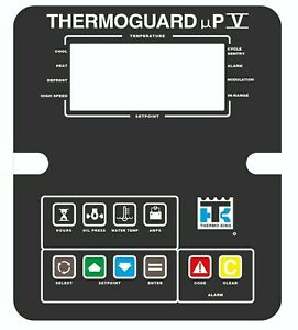 THERMOGUARD UPV MPV UP5 MP5 THERMO KING FACEPLATE STICKER KEYPAD DECAL