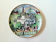 Wooster Scott Limited Edition Plate RAINBOW WEDDING Folk Franklin Mint