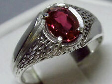 mens 1.55ct red Ruby 925 sterling silver ring size 9.5 USA made