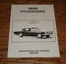 1966 Ford Thunderbird Specification & Feature Manual 66