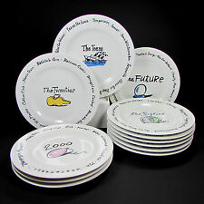 Pottery Barn Millennium Complete Set of Twelve 12 Dessert Appetizer Plates