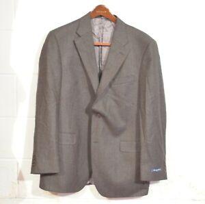 NEW Austin Reed 44R Brown Woven Fairfield Lambswool 2 Button Blazer Jacket