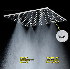 "New 20 ""LED Chrome Overhead Shower Square Rain Shower Head Shower Head Stainless"