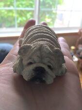 """Sandicast Lil Snoozers Bulldog Miniature S42 1988 Figurine 4"""" Signed"""