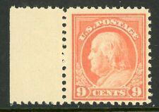 USA 1917 Franklin 9¢ Perf 11 Flat Pl Unwmk Scott 509 Mint N432