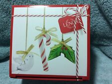 65% Off Lenox 3 Art Glass Christmas Ornaments New Dove Holly Candy Cane