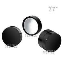 TT Stainless Steel Round Magnet Fake Ear Plug Earrings Size Color A pair  (BM01)