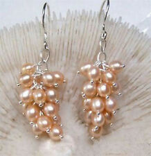 Charming!Pink Akoya Pearl Earring AAA