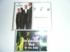 3 Cassette TIN MACHINE I + II Censored + Live  David Bowie Complete DISCOGRAPHY