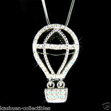 w Swarovski Crystal ~Hot Air Balloon~ Jewelry Astronomy Science Pendant Necklace