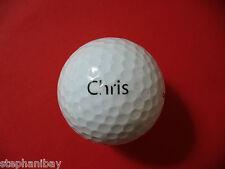 Pelota de golf logotipo: chris-nombre pelota logotipo Ball como regalo amuleto recuerdo