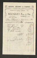 """CARMAUX (81) ENGRAIS ,GRAINS ,GRAINES & FARINES """"BOUSQUET Pere & Fils"""" en 1917"""