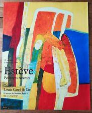 AFFICHE - Estève - peintures récentes 1990 - Galerie Louis Carré