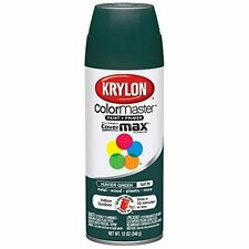(2 Can Pack) Krylon Colormaster Satin Hunter Green Fast Dry Spray Paint